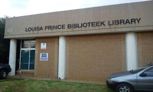 Louisa Prince Biblioteek Library, in Ext9 named after  Mrs Louisa Prince